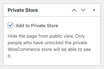 Add page to Private WooCommerce Store