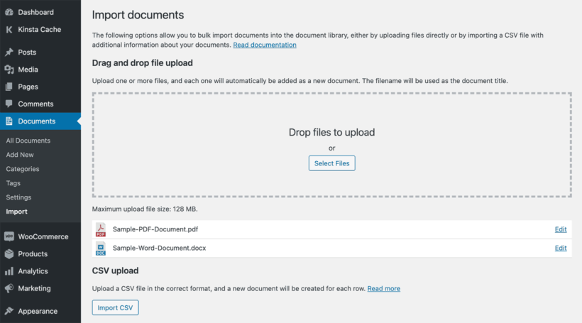 Drag and Drop Document Library