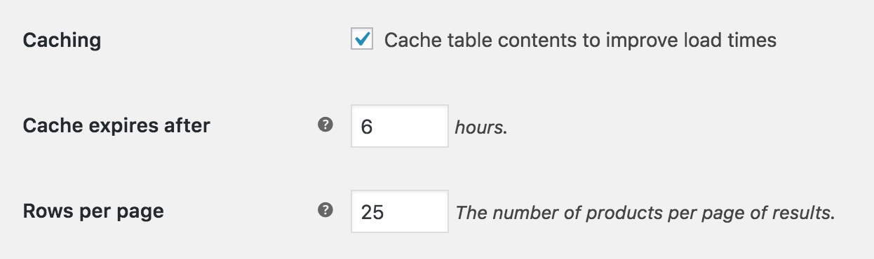 Document Library Pro caching option